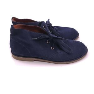 Lucky Brand Blue Suede Boots Size 9